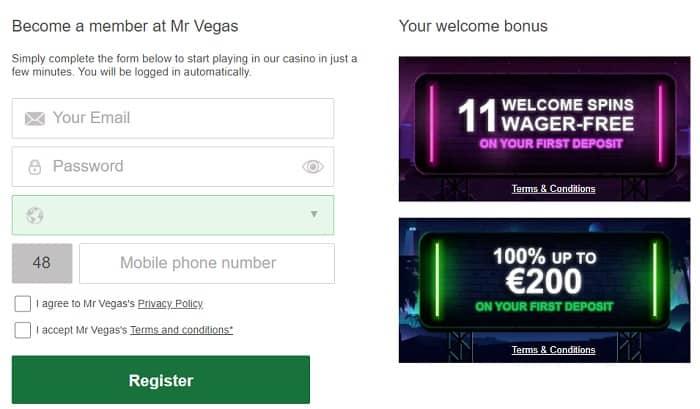 Register at MrVegas.com