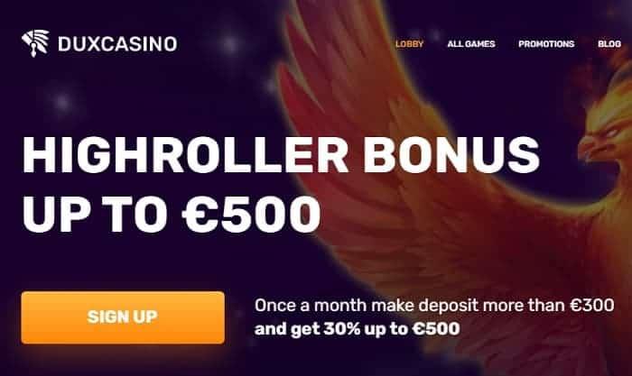 Dux High Roller Bonus