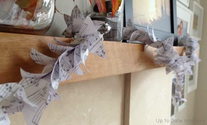 garland made from sheet music