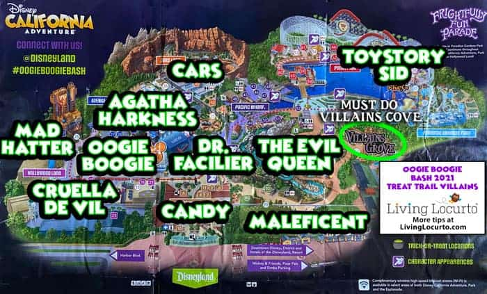 Oogie Boogie Bash Treat Trail Map