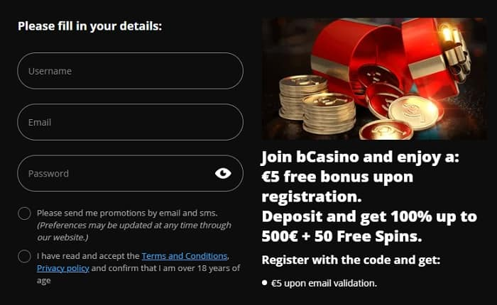 Register and Play