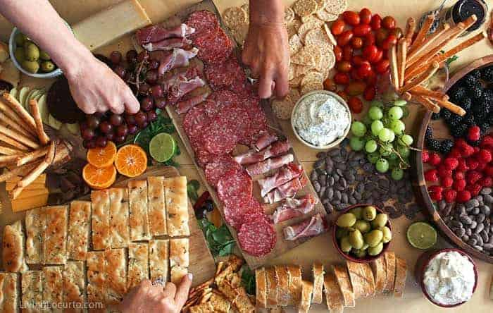 Tamron 24-70mm Camera Lens review. Food Blogger Trip - Food Photography Charcuterie Board Meat and Cheese Living Locurto