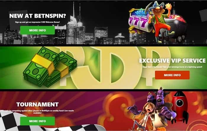 Bet N Spin Casino free spins