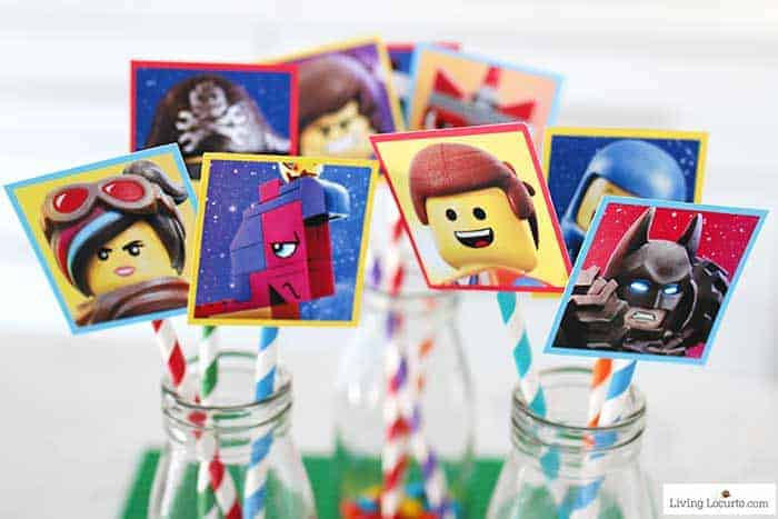 The LEGO Movie 2 Free Printables - Cute LEGO Cupcake toppers.
