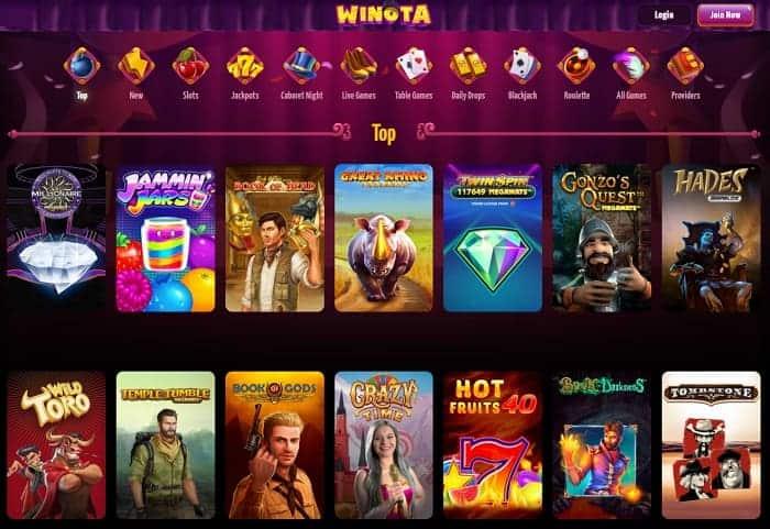 Winota Casino Website Free Play Bonus