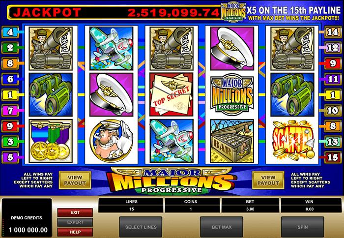 Major Millions free play bonus
