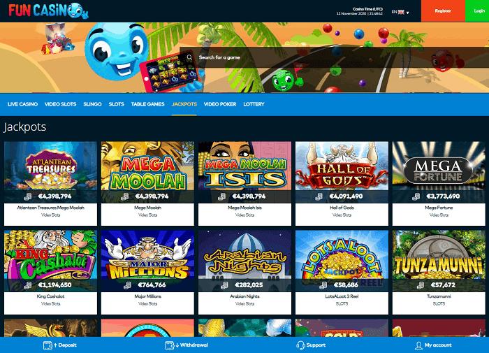 FUN Casino Website Review