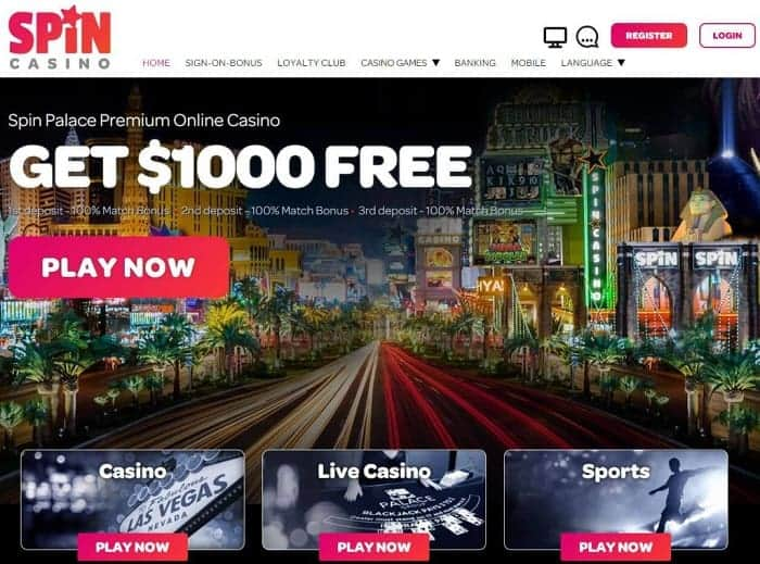 Spin Casino $1000 free bonus