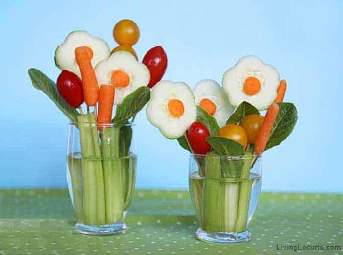 Flower Jarcuterie Vegetable Charcuterie in a Jar