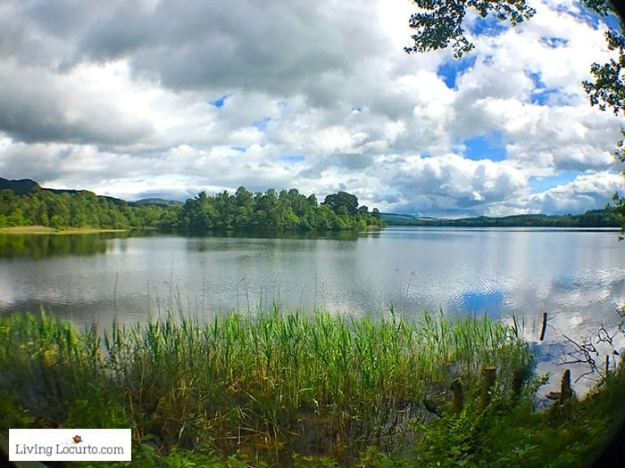 Loch of the Lowes. Beautiful Lake view! 5 Best Outdoor Scotland Family Vacation Ideas! Amazing nature trips in Scotland for families. Kid friendly Scottish highlands vacation ideas and travel tips.