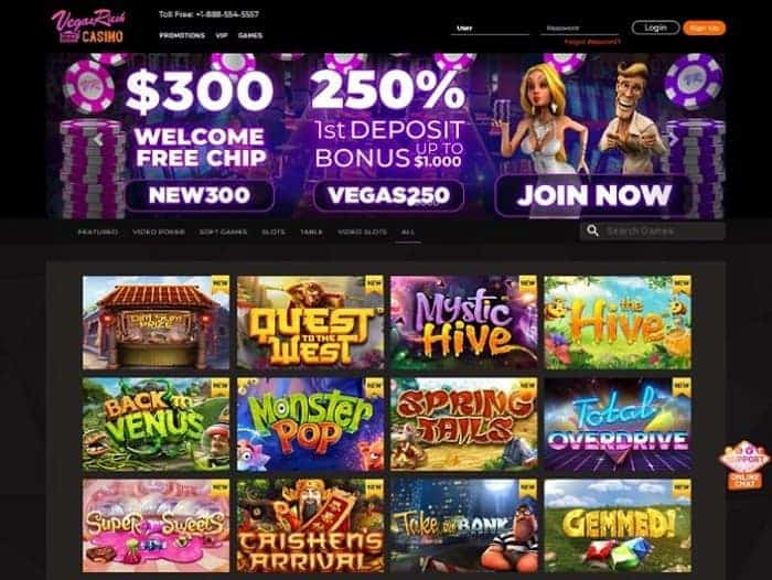 Vegas Rush Casino free bonus codes