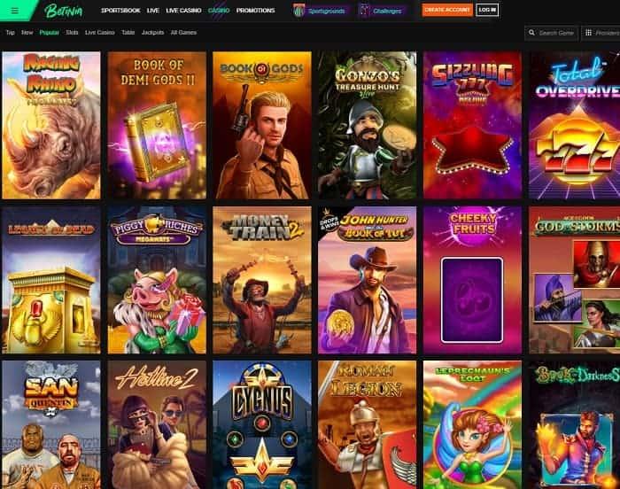 Semua permainan kasino terbaik
