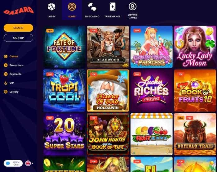 DAZARD Casino Welcome Bonus