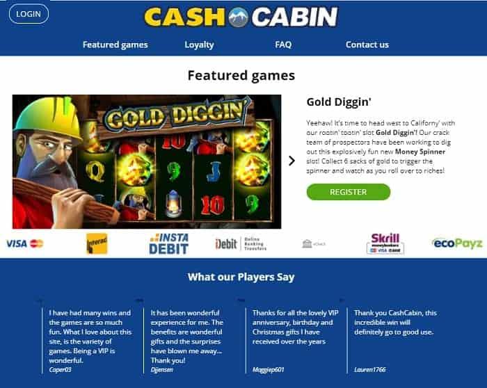 Cash Cabin free bonus