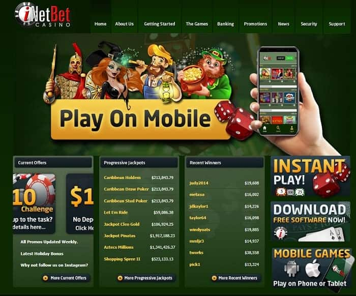 Play On Mobile at iNetEnt