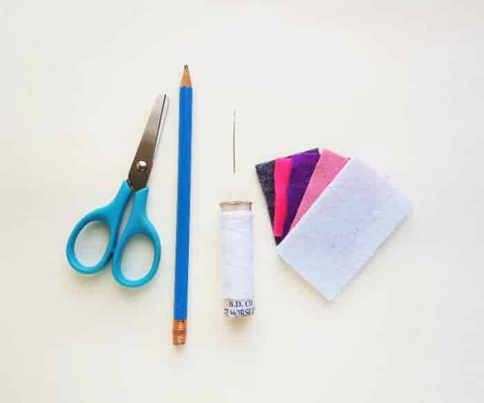 Supplies for diy corner bookmark.