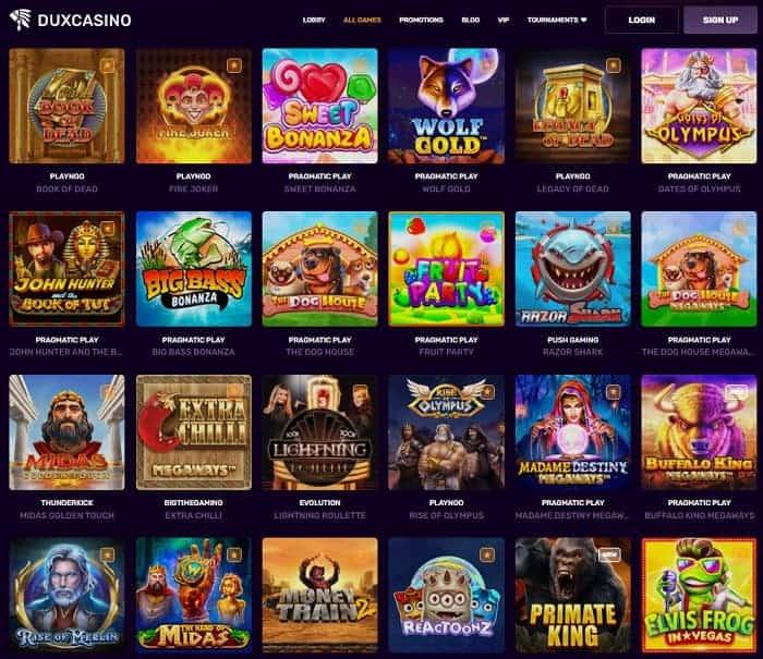 Dux Casino Website