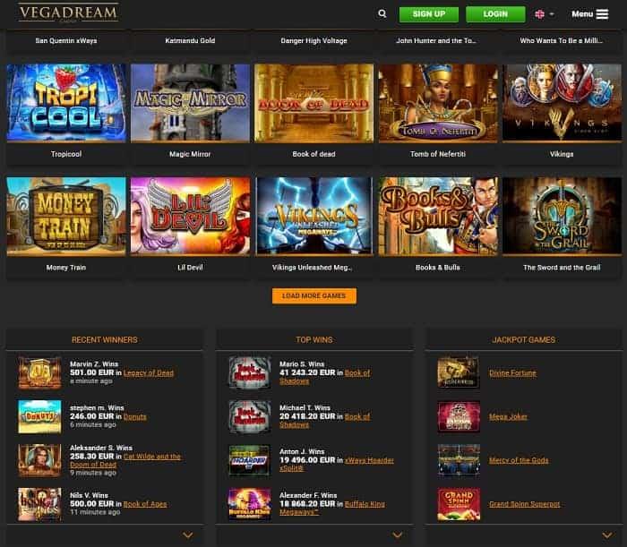 Vegasdream free bonus