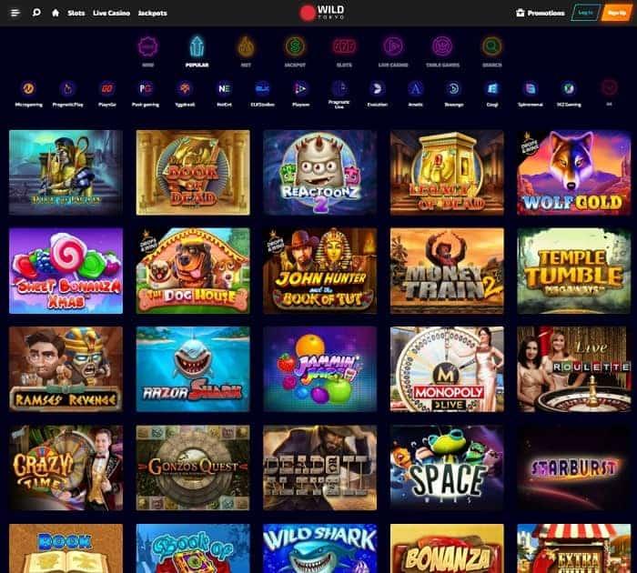 Wild Tokyo Casino Bonus Games