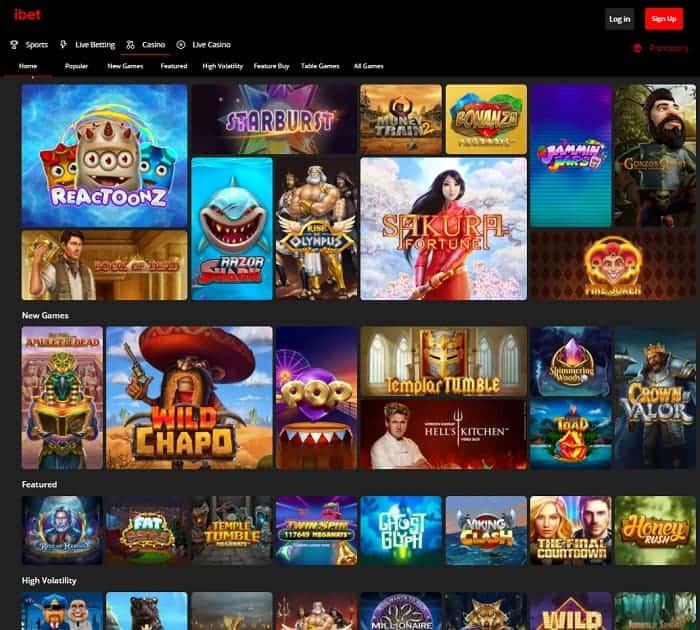 iBet Casino Free Bonus