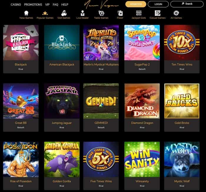 New Vegas Casino Free Chip Bonus Code