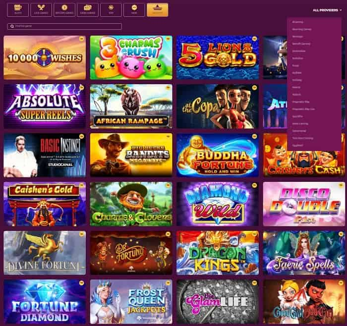 Popular games and slot machines