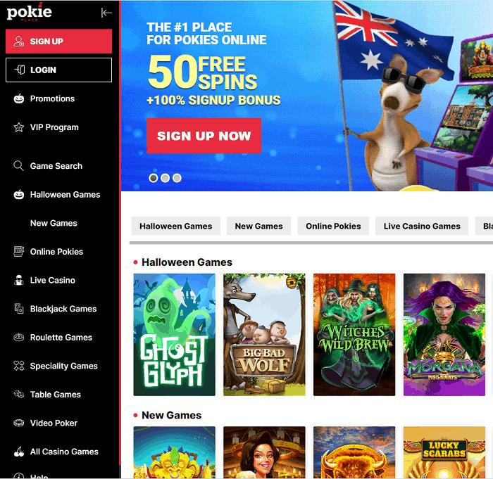 50 Free Spins Pokie Place Casino