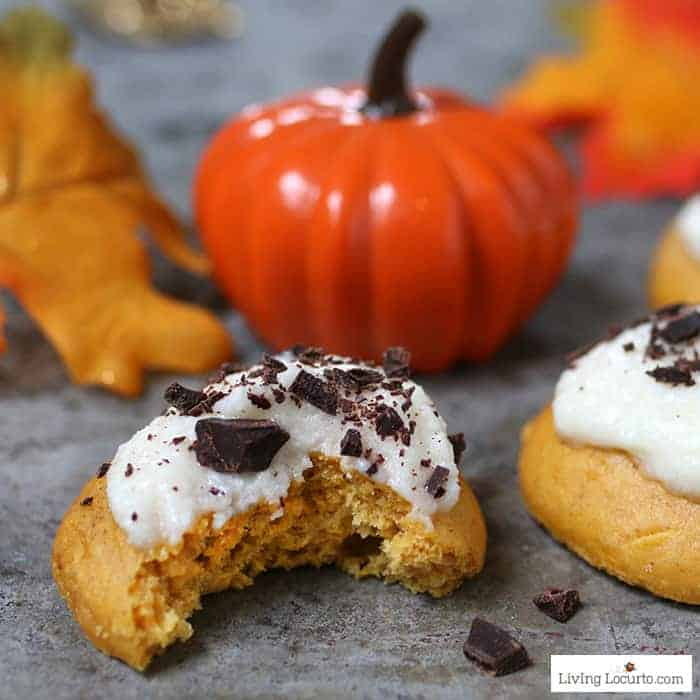 How to make the best Pumpkin Cookies! Easy Cake Mix Cookie recipe for fall or Christmas cookie exchange.