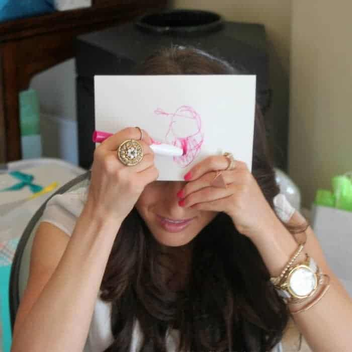 BABY'S FIRST PORTRAIT - Refreshing baby shower game ideas, printables and more so you can plan the best baby shower! Baby shower games for women, men and couples.