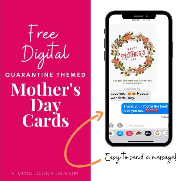Digital Quarantine Mothers Day Cards Living Locurto