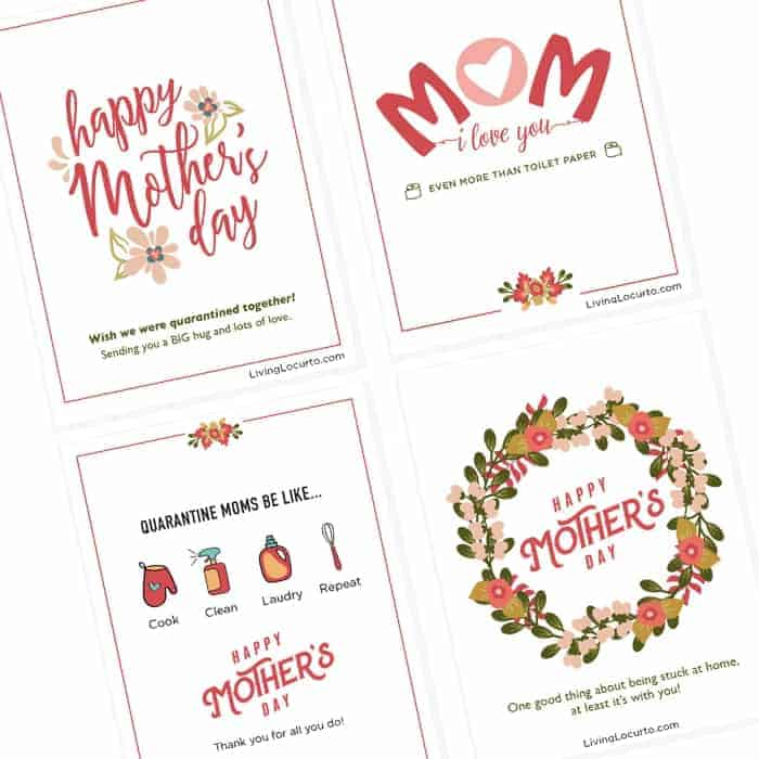 free printable Quarantine Mother's Day Cards