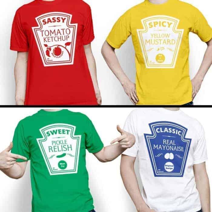 Group Halloween Costume  Condiment T-shirts
