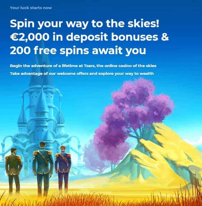 Play 200 free spins and get 2000 EUR free bonus!