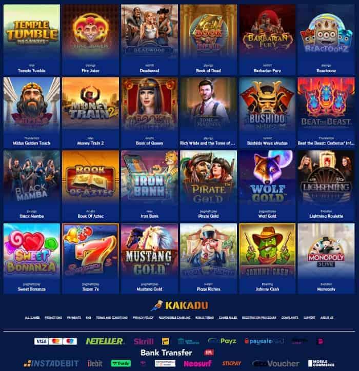 Kakadu Casino Free Spins Bonus