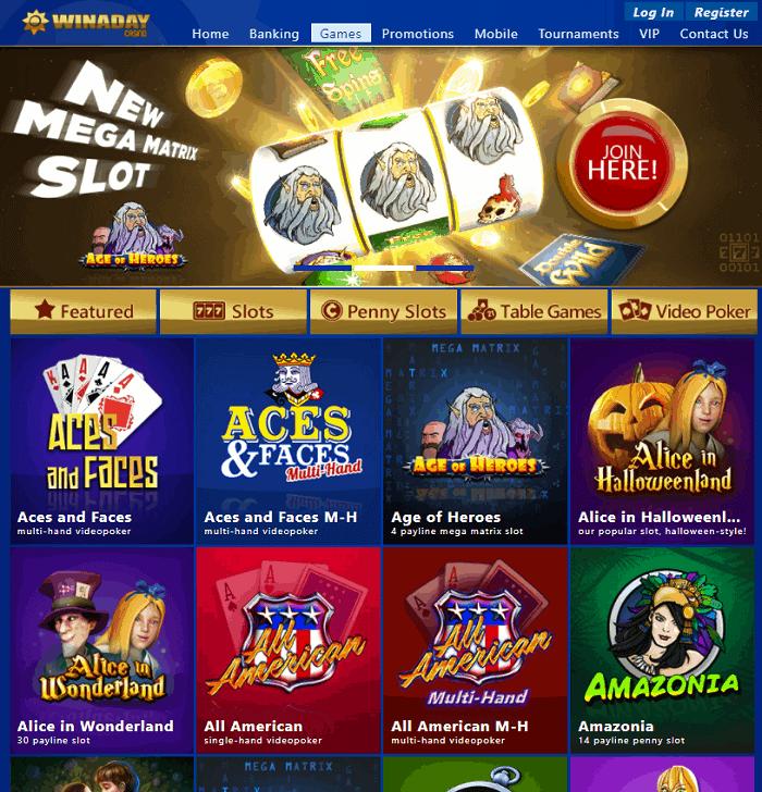 Winaday Casino Website Review - USA OK