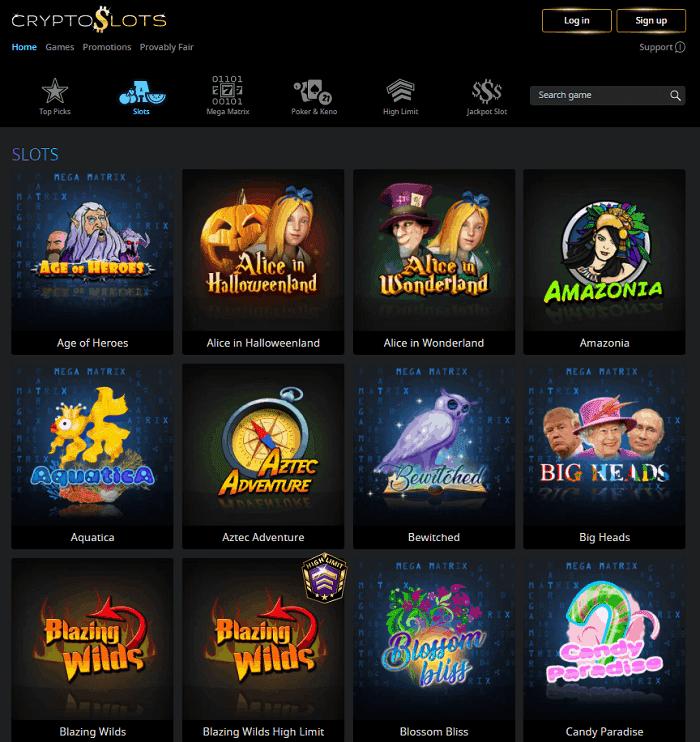 Cryptoslots Casino website review