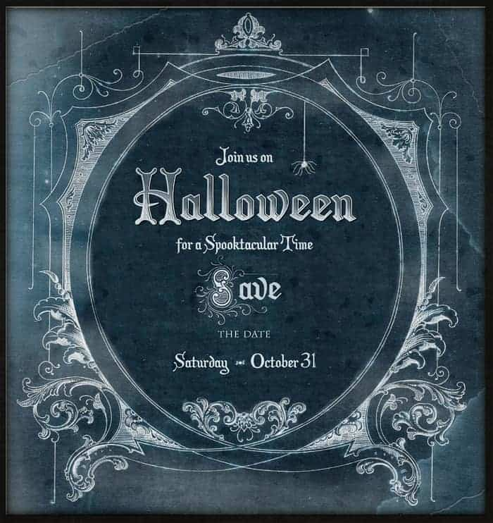 Halloween Party - Save the Date Free Graphic - Dark and Spooky