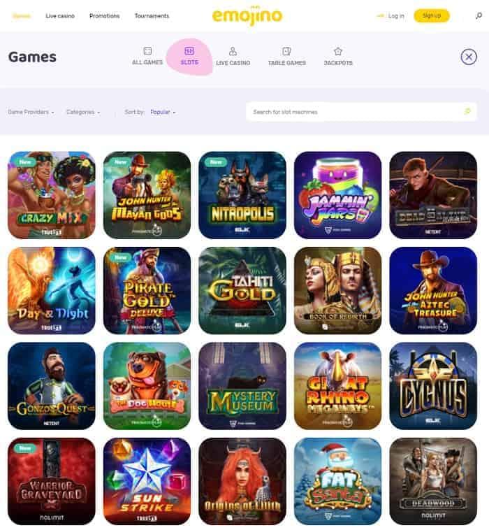 Emojino Casino Review & Free Spins Bonus