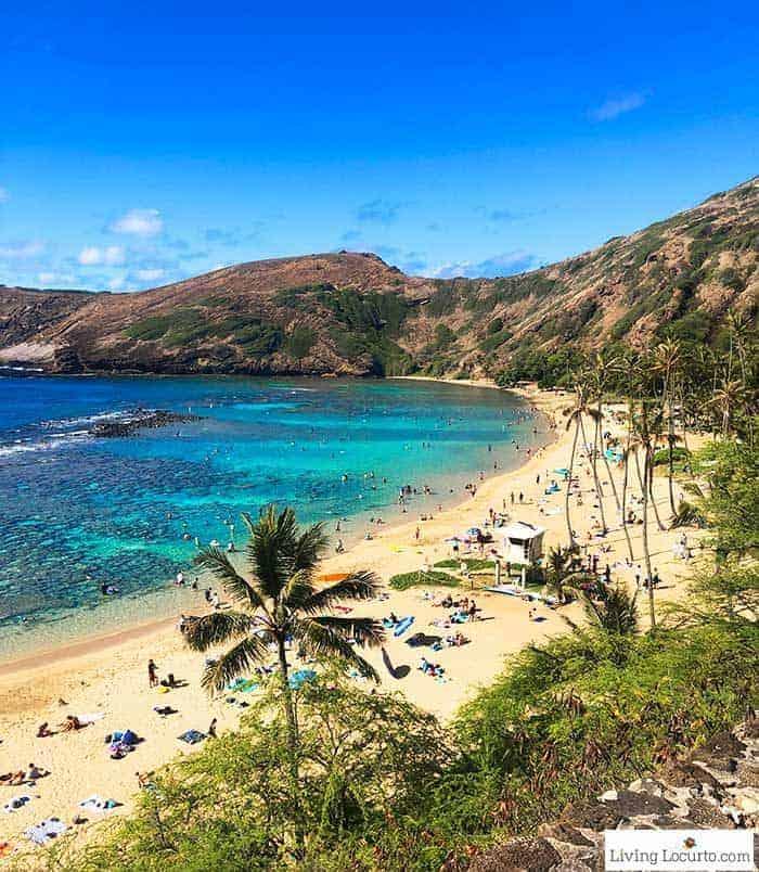 Hanauma Bay beach- 2 Day Oahu Itinerary - Honolulu Hawaii Travel Tips - Living Locurto
