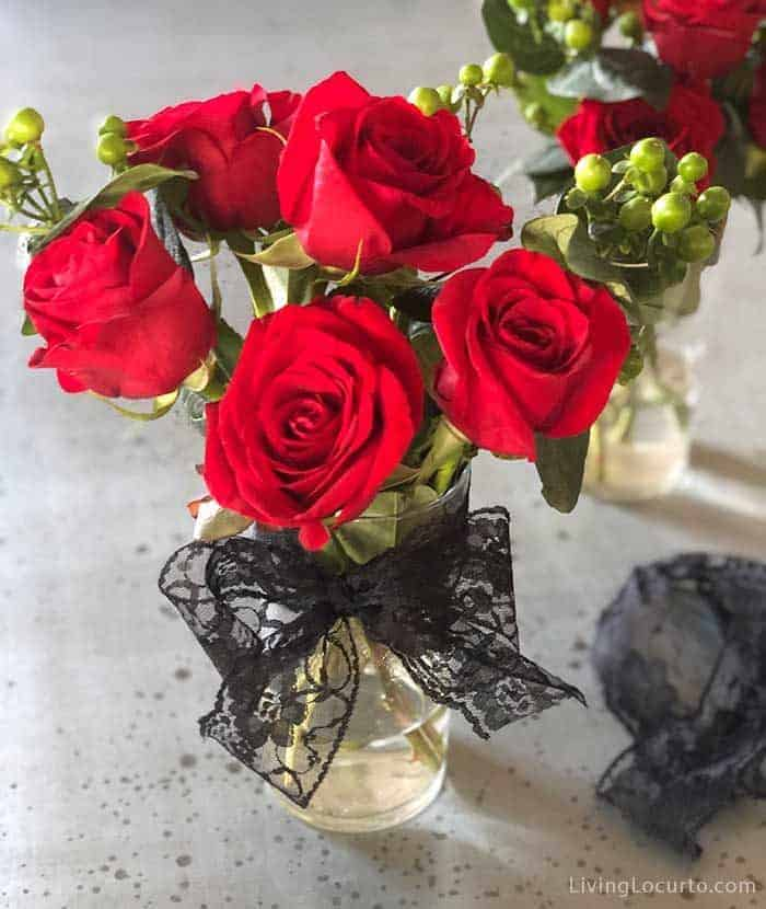 Roses - Halloween Party Ideas for a Witch's Night Out! Inspiration for hosting an epic gothic Witch Halloween Party.