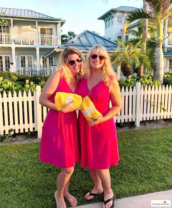 Beaches Moms Social Media on the Sand event. Holly Homer and Amy Locurto Texas bloggers. Learn all about Beaches Resorts in Turks & Caicos to plan your next family trip! All-Inclusive Caribbean vacation travel review.