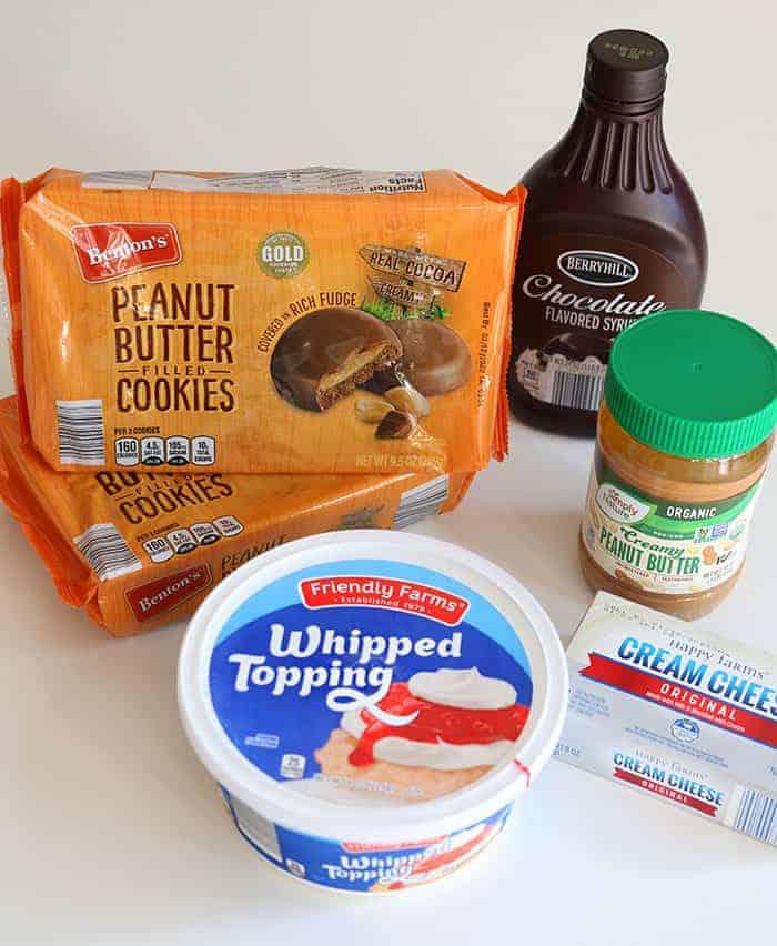 ALDI Peanut butter icebox cake ingredients