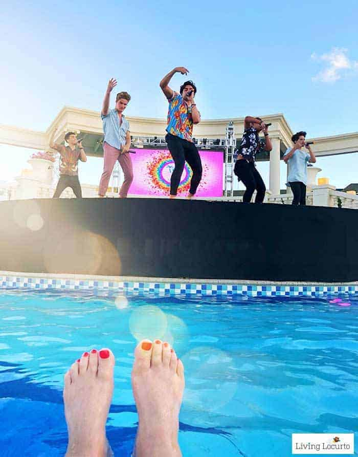Social Media on the Sand Party. In Real Life (IRL) boy band concert. Learn all about Beaches Resorts in Turks & Caicos to plan your next family trip! All-Inclusive Caribbean vacation travel review by Amy Locurto Food and Travel Blogger.