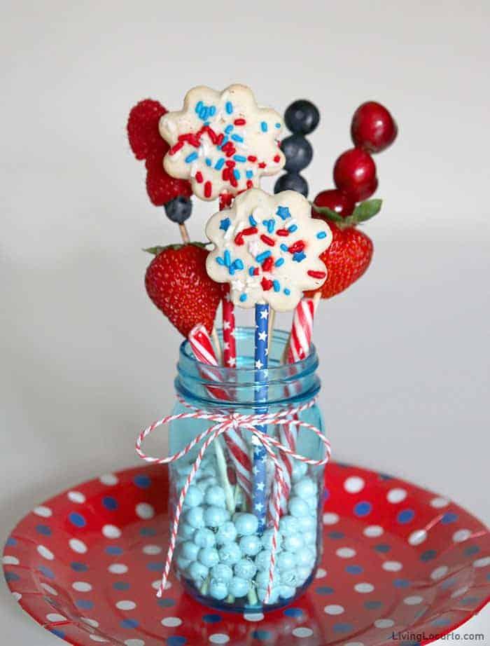 4th of July Jarcuterie Dessert in a Jar
