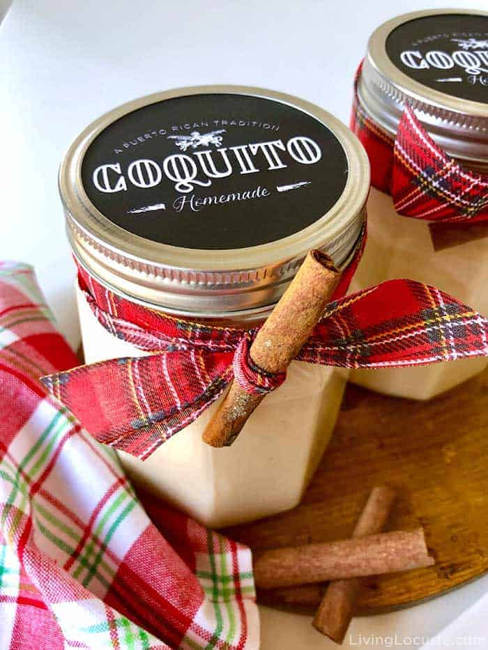Best Coquito Recipe - Puerto Rican Rum Punch Free Printable Labels by Living Locurto