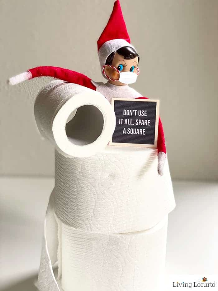 9 Hilarious Stuck at Home Elf Letter Boards - Save Toilet Paper Sign - Living Locurto