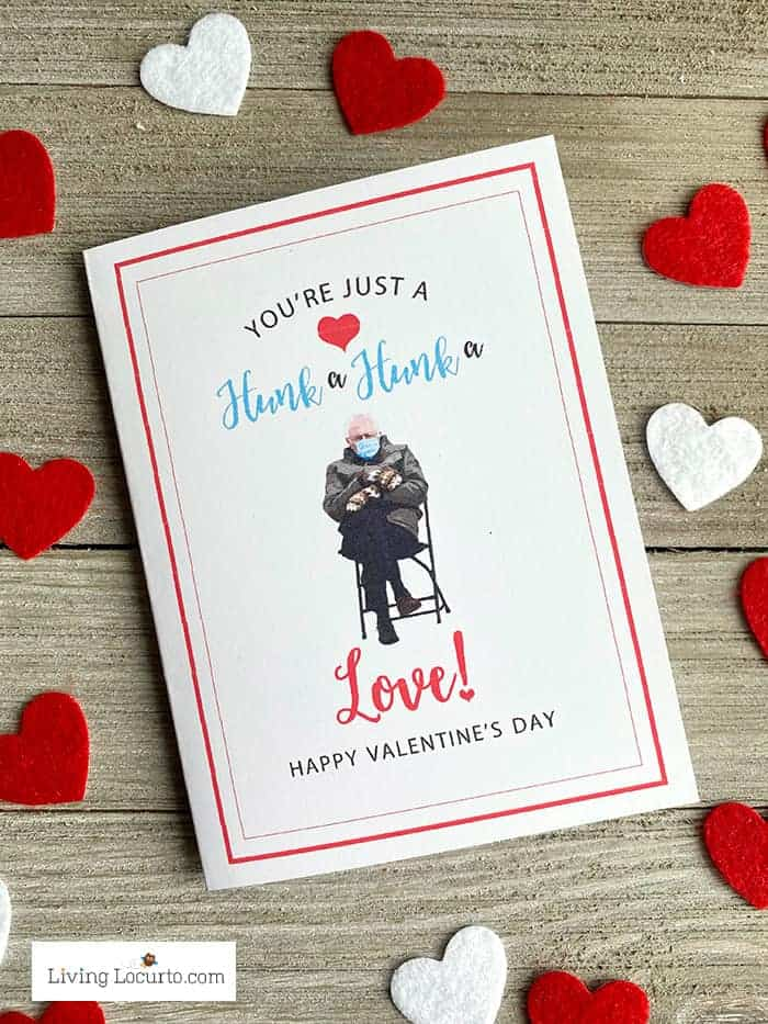Bernie Meme Printable Valentine's Day Cards