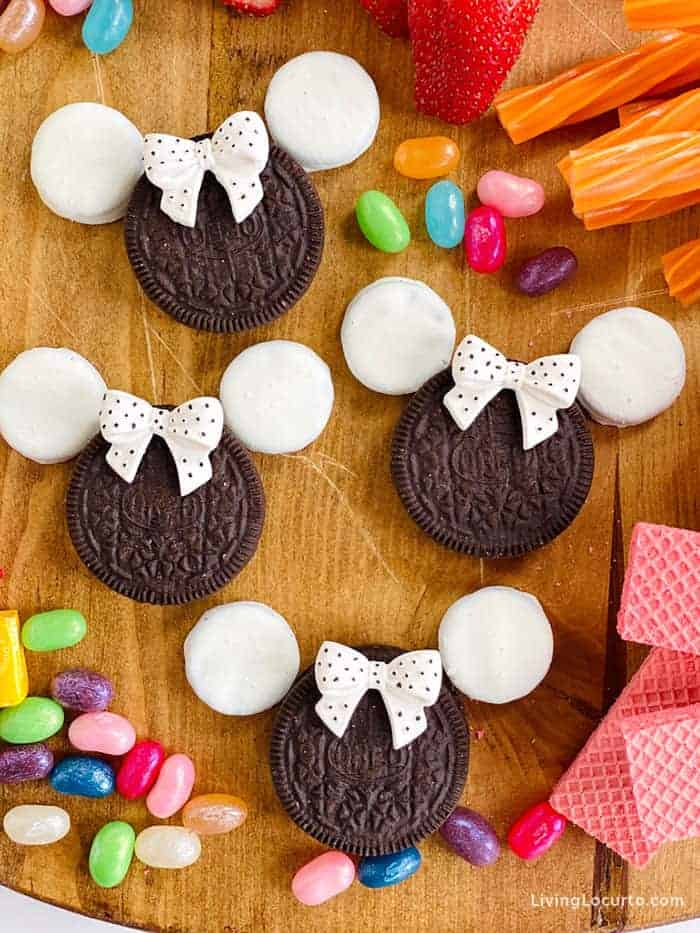Disney Themed Dessert Board Minnie Mouse Cookies