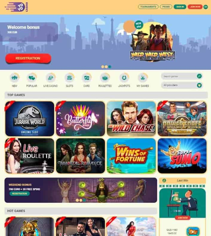 Yoyo Casino free spins no depsit bonus