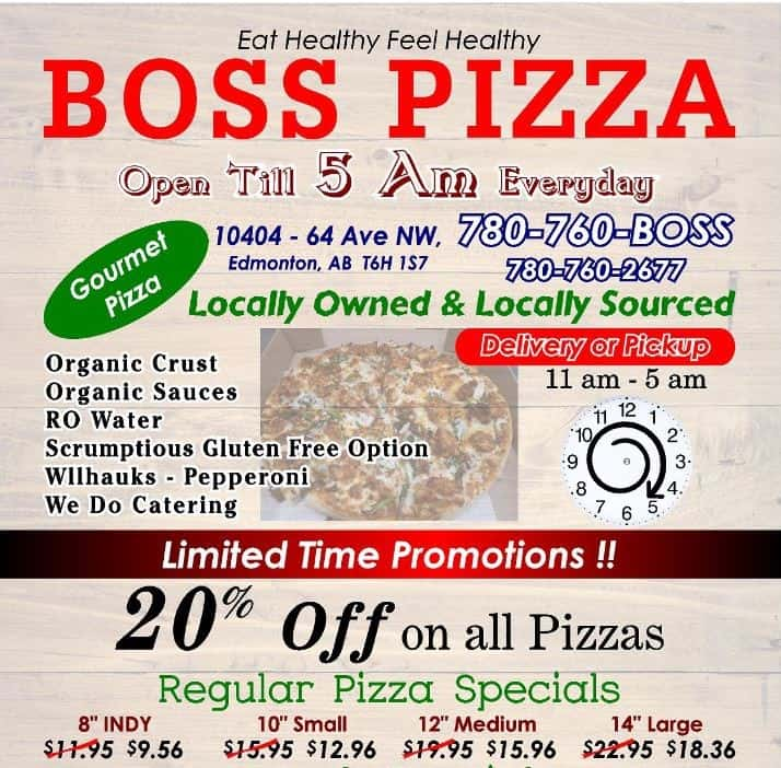 Boss Pizza Promotions